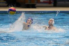 Jogadores do polo aquático Fotos de Stock Royalty Free
