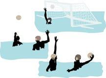 Jogadores do polo aquático Fotos de Stock