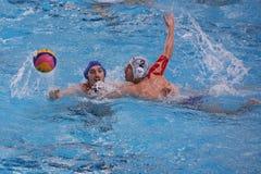 Jogadores do polo aquático Fotografia de Stock