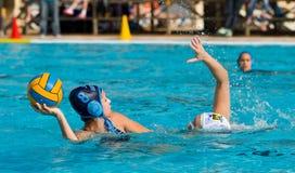 Jogadores do polo de água Fotografia de Stock Royalty Free