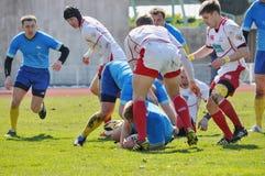 Jogadores do rugby Fotos de Stock