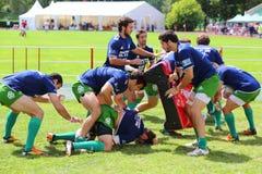 Jogadores do rugby do trem de Portugal Fotos de Stock