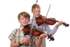 Jogadores do violino fotografia de stock royalty free