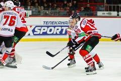 Jogadores Donbass Donetsk e Metallurg Novokuznetsk Fotografia de Stock Royalty Free