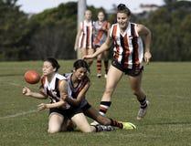 Jogadores fêmeas de AFL, Sydney Fotos de Stock Royalty Free