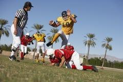 Jogadores na ação durante o fósforo Fotografia de Stock