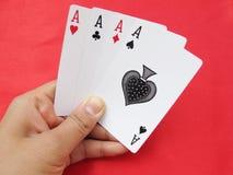 Jogando Cartão-Ás Foto de Stock Royalty Free