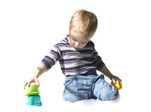 Jogando a criança Foto de Stock