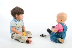 Jogando crianças Fotografia de Stock Royalty Free