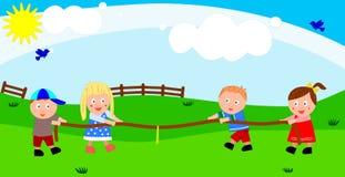 Jogando crianças Ilustração Stock