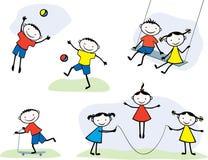 Jogando crianças ilustração royalty free