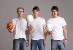 Jogando a esfera Fotografia de Stock Royalty Free