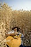 Jogando guitar05 Fotografia de Stock