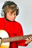 Jogando guitar2 fotografia de stock royalty free