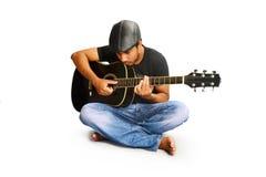 jogando a guitarra Fotografia de Stock Royalty Free