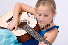 Jogando a guitarra Imagem de Stock Royalty Free