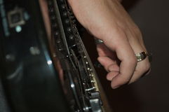 Jogando a guitarra Imagens de Stock
