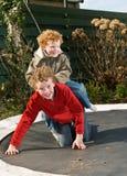 Jogando irmãos Foto de Stock Royalty Free