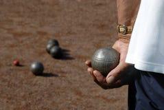 Jogando jeu de boules Fotos de Stock Royalty Free
