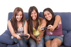 Jogando jogos! Foto de Stock Royalty Free