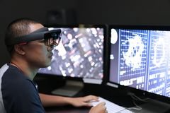 Jogando a mágica | Realidade virtual com hololens Imagem de Stock