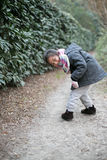 Jogando a menina impertinente Imagem de Stock Royalty Free