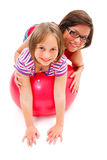 Jogando meninas Imagem de Stock