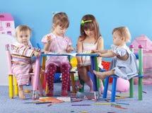 Jogando miúdos Foto de Stock Royalty Free
