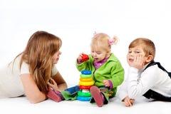 Jogando miúdos Fotografia de Stock Royalty Free
