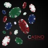 Jogando microplaquetas casino gambling ilustração stock