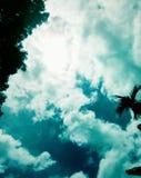 Jogando a nuvem Imagens de Stock