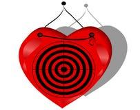 Jogando o alvo com coração ilustração stock