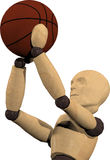 Jogando o basquetebol Fotos de Stock