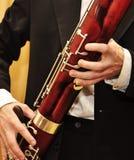 Jogando o bassoon fotos de stock