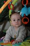 Jogando o bebé Fotos de Stock Royalty Free
