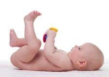 Jogando o bebê Fotos de Stock Royalty Free