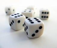 Jogando o cubo Imagem de Stock Royalty Free