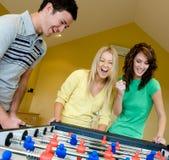 Jogando o futebol da tabela Imagem de Stock Royalty Free