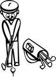Jogando o golfe ilustração do vetor
