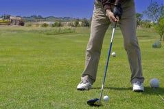 Jogando o golfe Imagem de Stock Royalty Free