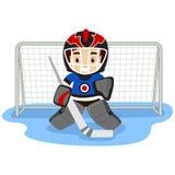 Jogando o jogador de hóquei em gelo Fotografia de Stock