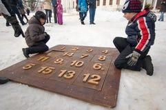 Jogando o jogo décimo quinto da lógica Fotografia de Stock Royalty Free