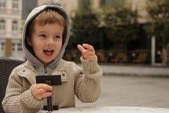 Jogando o menino Imagens de Stock Royalty Free