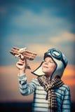 Jogando o menino Foto de Stock