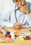 Jogando o póquer Imagem de Stock