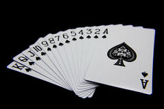 Jogando o pôquer Imagens de Stock Royalty Free