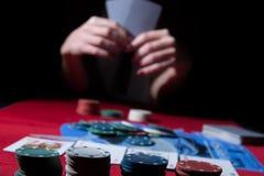 Jogando o pôquer Fotografia de Stock