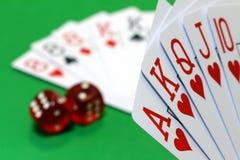Jogando o pôquer Fotos de Stock