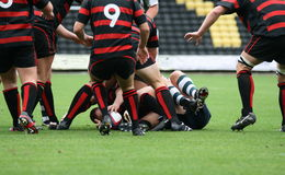 Jogando o rugby Imagem de Stock
