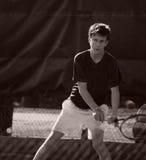 Jogando o tênis Foto de Stock Royalty Free
